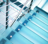 Modern glass staircase — Photo