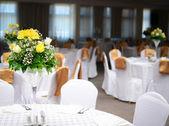 テーブルの結婚式の装飾 — ストック写真