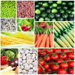 Vegetable collage - Group of various fresh vegetables — Stock Photo