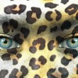 Stock Photo: Humface with animal patterns - Save endangered species concep