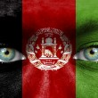 Humface painted with flag of Afghanistan — Stock Photo #11331804