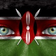 Humface painted with flag of Kenya — Stock Photo #11332884