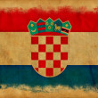 Croatia grunge flag — Stock Photo