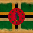 Dominica grunge flag - Stockfoto