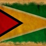Guyana grunge flag — Stock Photo