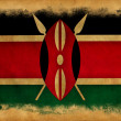 Kenygrunge flag — Stockfoto #11405545