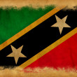 Saint Kitts and Nevis grunge flag — Stock Photo