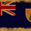Foto de Stock  : Turks and Caicos grunge flag