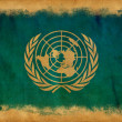 Stock Photo: United Nations grunge flag