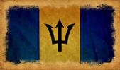 巴巴多斯 grunge 旗 — 图库照片