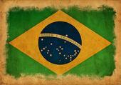 Brasil grunge flag — Stock Photo