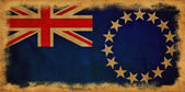 Bandeira do grunge ilhas cook — Fotografia Stock