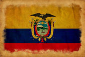 Ecuador grunge flag — Stock Photo