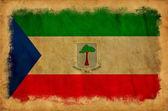 Vlag van equatoriaal-guinea grunge — Stockfoto
