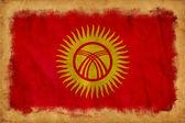 Kyrgistan grunge vlag — Stockfoto