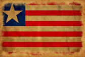 Liberia grunge flag — Stock Photo