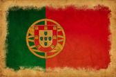 葡萄牙 grunge 旗 — 图库照片