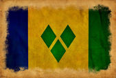 Saint Vincent Grenadines grunge flag — Foto Stock