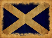 Scotland grunge flag — Foto Stock
