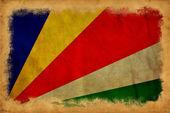 Seychelská vlajka grunge — Stock fotografie