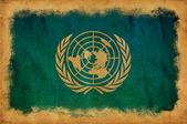 Bandera de las naciones unidas grunge — Foto de Stock