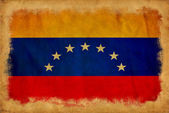 Venezuela grunge flagga — Stockfoto