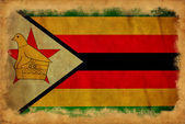 Zimbabwe grunge flag — Stock Photo