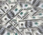 100 dollars banknotes background — Stock Photo