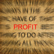 Royalty-Free Stock Photo: Blured text on vintage paper with focus on PROFIT