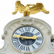 Schonbrunn palace in Vienna Austria - Clock detail - Stock Photo