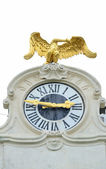 Schonbrunn palace in Vienna Austria - Clock detail — Stock Photo