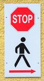 Walk sign — Stock Photo