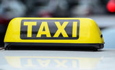 Taxi sign — Stock Photo