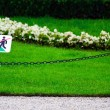 """Do not step on grass"" sign — Stock Photo"