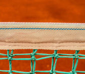 Net of tennis court on clay court — Stock Photo