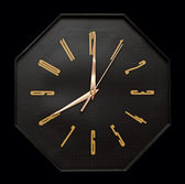 Black wall clock — 图库照片
