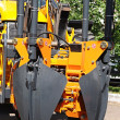 Heavy duty construction equipment parked at worksite — Stock Photo #11269947