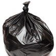 Royalty-Free Stock Photo: Close up of a garbage bag on white background
