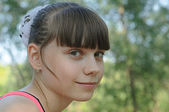 Portrait of young beautiful girl — Stock Photo