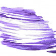 Close up of water color strokes painting on white background — Stock Photo