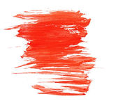 Red water color paint texture — Stock Photo