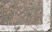 White line on the asphalt — Stock Photo