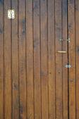 Oude houten deur vooraanzicht — Stockfoto
