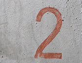 2 - eski el yazısı numarası grunge gümüş arka plan üzerinde brown — Stok fotoğraf