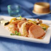 Salmone slices — Stock Photo