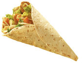 Tortilla Chicken wrap — Stock Photo