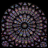 Rose window of Notre Dame — Stock Photo