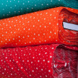 Colorful Textiles with Star Pattern — Stock Photo