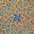 Stock Photo: Brickwork mixed with blue tiles inside a mosque