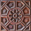 Stock Photo: Old Wooden Carved Panel